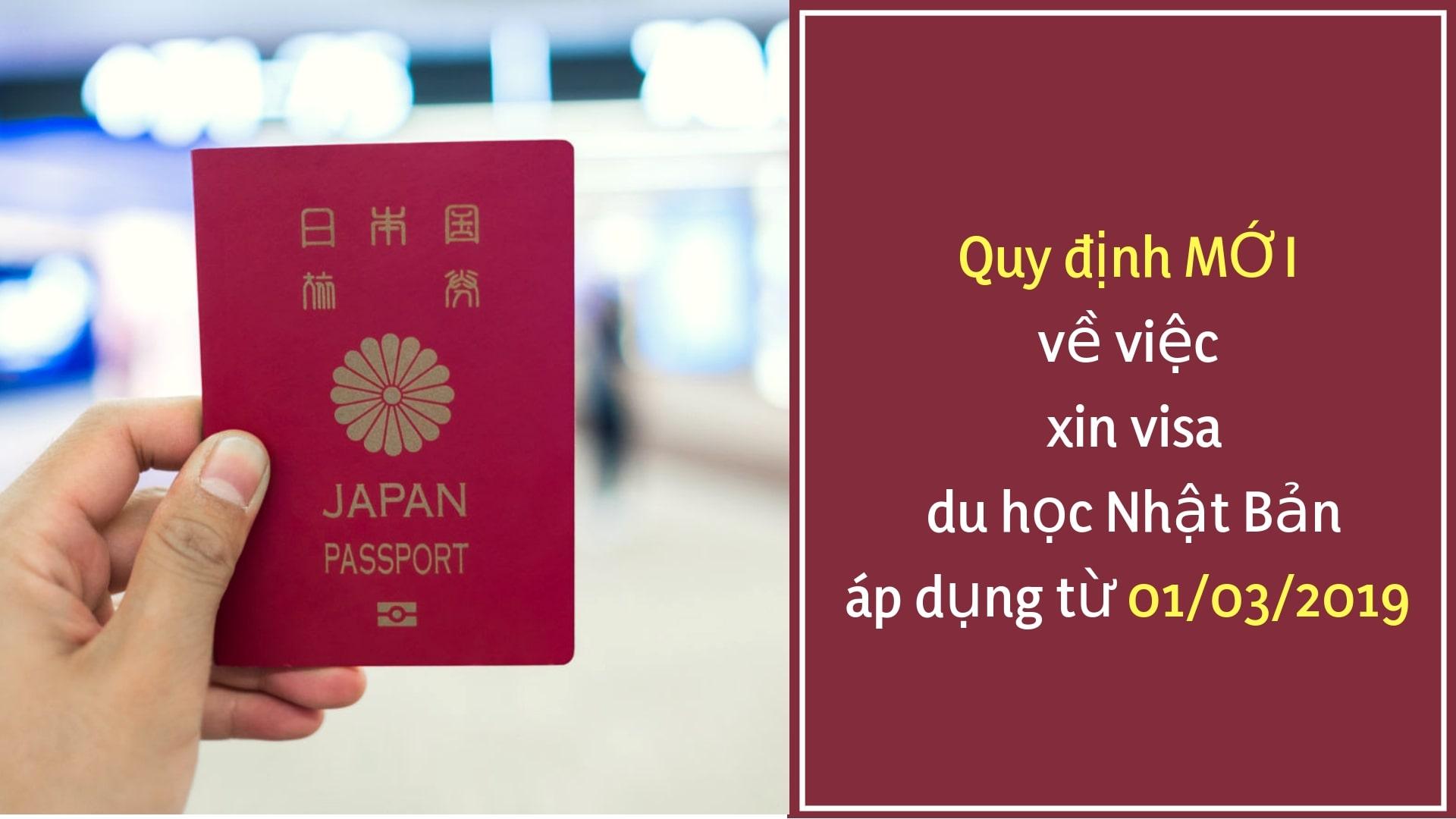 Quy định mới về xin visa du học Nhật Bản 2019